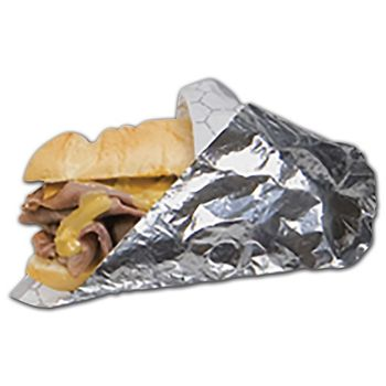 Silver Foil Insulated Sandwich Wraps, 10 1/2 x 13