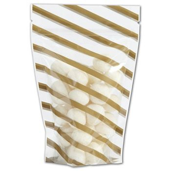Candy Stripes Food-Safe Zipper Pouches, 4 x 6