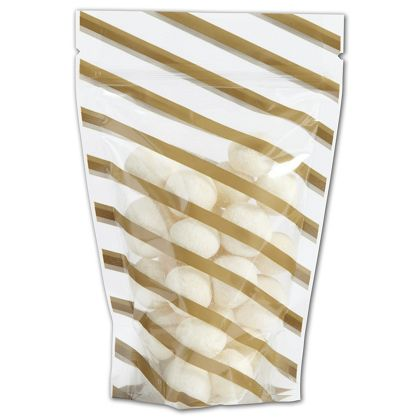 Candy Stripes Food-Safe Zipper Pouches, 4 x 6