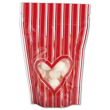 "Stole My Heart Food-Safe Zipper Pouches, 4 x 6"" + 2"" BG"