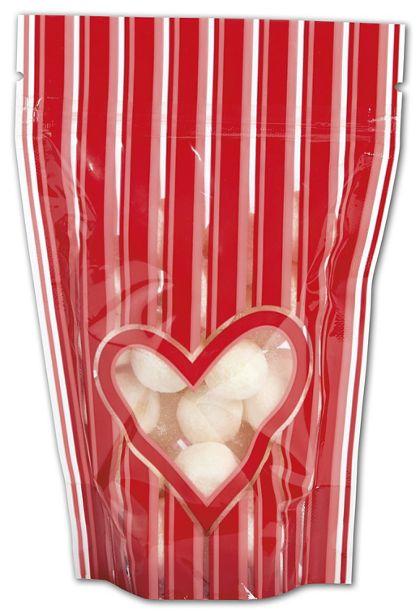 "Stole My Heart Food-Safe Zipper Pouches, 4 x 6"" + 2"" BG"