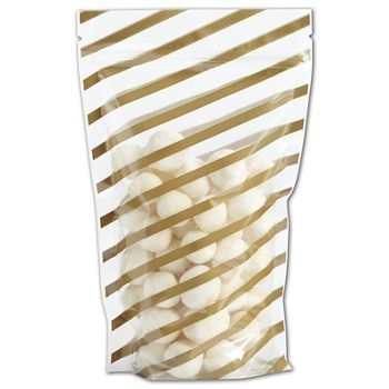 Candy Stripes Food-Safe Zipper Pouches, 5 x 8