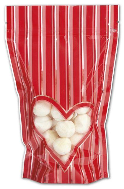 "Stole My Heart Food-Safe Zipper Pouches, 5x8""+2 1/2"" BG"