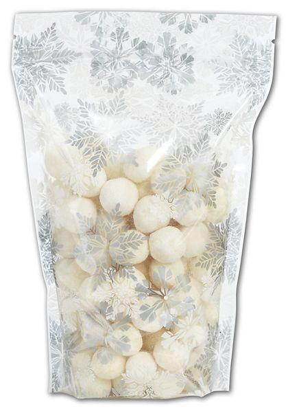 """Let it Snow Food-Safe Zipper Pouches, 6 x 9"""" + 2 1/2"""" BG"""