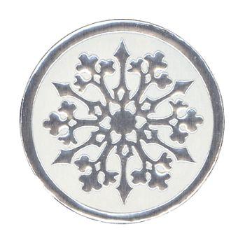 Snowflake Seals, Circle, 1 1/8