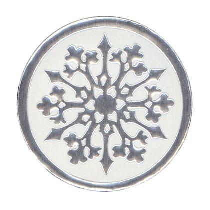 """Snowflake Seals, Circle, 1 1/8"""""""