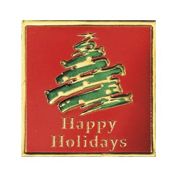 Holiday Tree Seals, Square, 1 5/8 x 1 5/8""