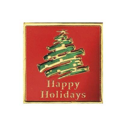"Holiday Tree Seals, Square, 1 5/8 x 1 5/8"""