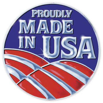 Made in USA Seals, Circle, 3/4