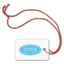 """Foil Stamped Tags, Rectangle, 1 1/4 x 2"""""""