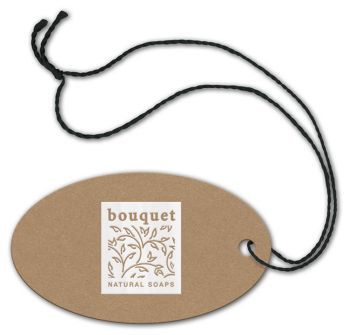 Foil Stamped Tags, Oval, 1 3/4 x 3
