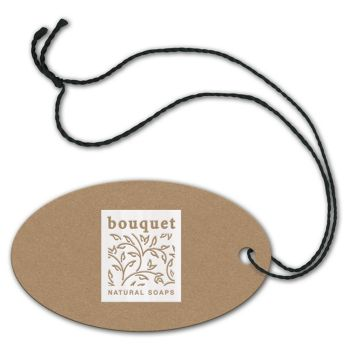 Foil Stamped Tags, Oval, 1 3/4 x 3""