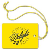 """Foil Stamped Tags, Rectangle, 2 x 2 7/8"""""""