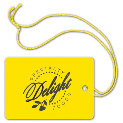 Foil Stamped Tags, Rectangle, 2 x 2 7/8""