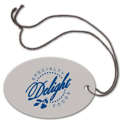 """Foil Stamped Tags, Oval, 2 x 3"""""""