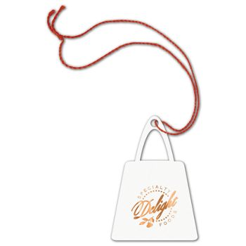 Foil Stamped Tags, Purse, 2 x 2 7/8