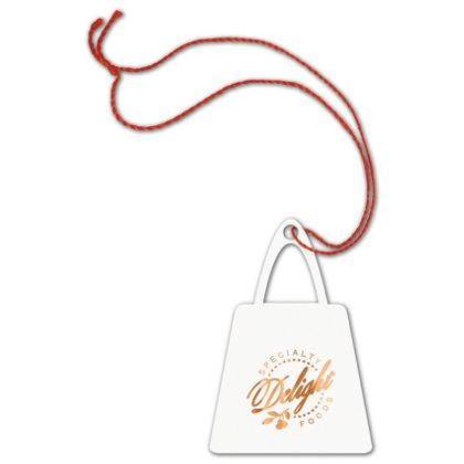 Foil Stamped Tags, Purse, 2 x 2 7/8""