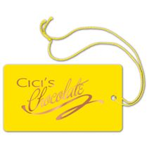 """Foil Stamped Tags, Rectangle, 2 1/4 x 4"""""""