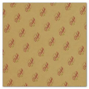 Carmel Food Grade Tissue Paper 2 Colors/1 Side, 15 x 15