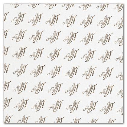 "White Food Grade Tissue Paper 1 Color/1 Side, 15 x 15"""