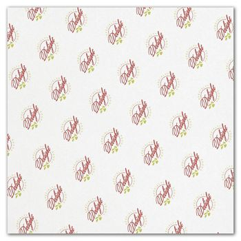 White Food Grade Tissue Paper 2 Colors/1 Side, 15 x 15""