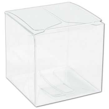Clear One-Piece Boxes, 2 x 2 x 2