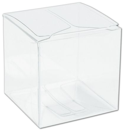 Clear One-Piece Boxes, 2 x 2 x 2""