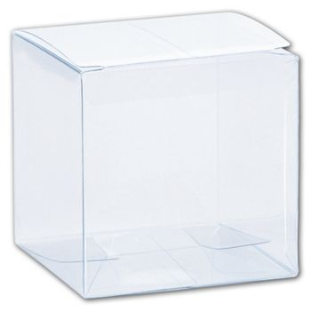 Clear One-Piece Boxes, 3 x 3 x 3