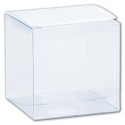 """Clear One-Piece Boxes, 3 x 3 x 3"""""""
