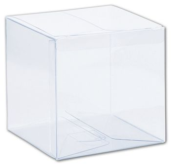 Clear One-Piece Boxes, 4 x 4 x 4