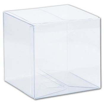 Clear One-Piece Boxes, 4 x 4 x 4""