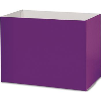 Purple Gift Basket Boxes, 10 1/4 x 6 x 7 1/2