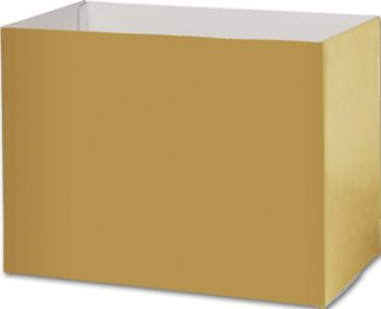 Metallic Gold Gift Basket Boxes, 10 1/4x6x7 1/2