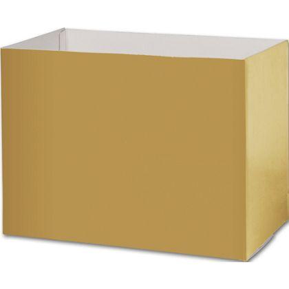 Metallic Gold Gift Basket Boxes, 10 1/4x6x7 1/2