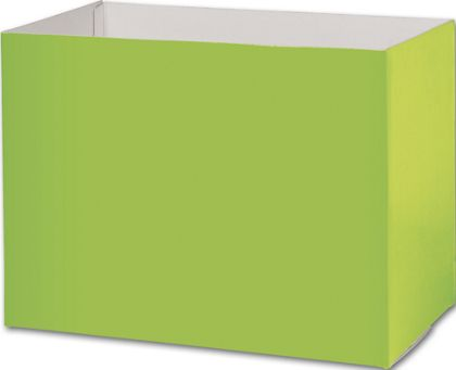 Lime Green Gift Basket Boxes, 10 1/4 x 6 x 7 1/2