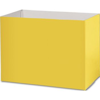 Yellow Gift Basket Boxes, 10 1/4 x 6 x 7 1/2