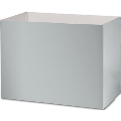 "Metallic Silver Gift Basket Boxes, 10 1/4x6x7 1/2"""