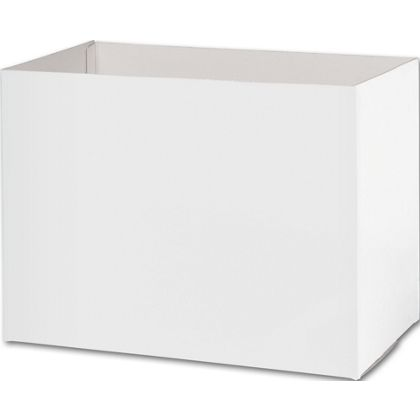 White Gift Basket Boxes, 10 1/4 x 6 x 7 1/2""