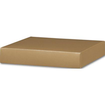 "Gold Gift Box Lids, 8 x 8 x 1 1/2"""