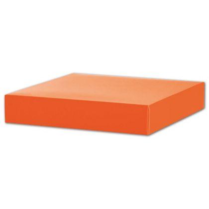"Orange Gift Box Lids, 8 x 8 x 1 1/2"""