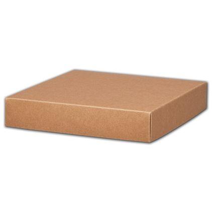 """Kraft Gift Box Lids, 8 x 8 x 1 1/2"""""""
