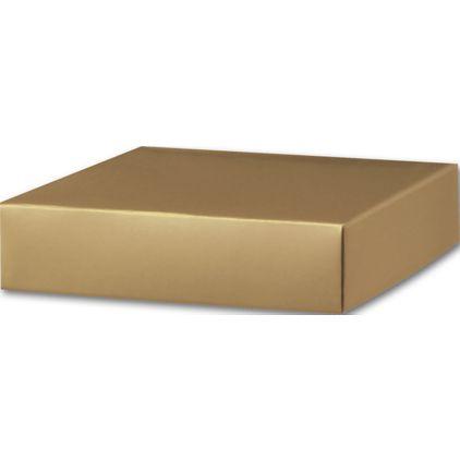 "Gold Gift Box Lids, 6 x 6 x 1 1/2"""