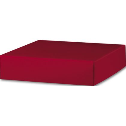 "Red Gift Box Lids, 6 x 6 x 1 1/2"""