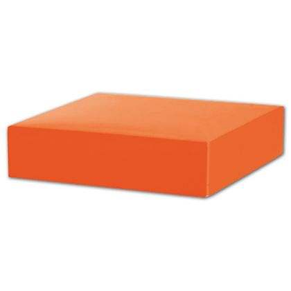 Orange Gift Box Lids, 6 x 6 x 1 1/2""