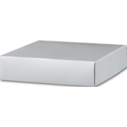 "Silver Gift Box Lids, 6 x 6 x 1 1/2"""