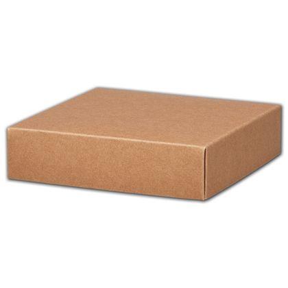 """Kraft Gift Box Lids, 6 x 6 x 1 1/2"""""""
