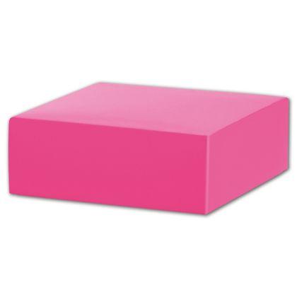 "Fuchsia Gift Box Lids, 4 x 4 x 1 1/2"""