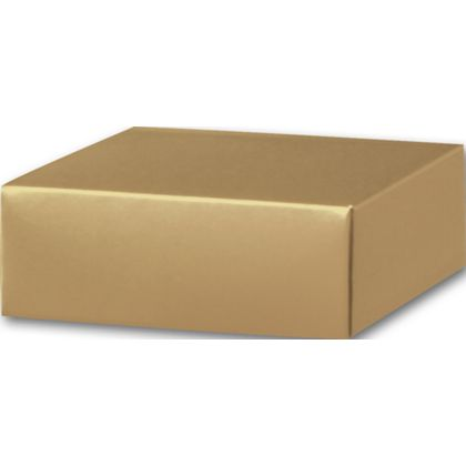 Gold Gift Box Lids, 4 x 4 x 1 1/2""