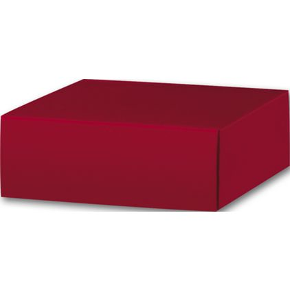 "Red Gift Box Lids, 4 x 4 x 1 1/2"""