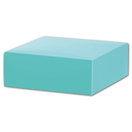 "Robin's Egg Blue Gift Box Lids, 4 x 4 x 1 1/2"""